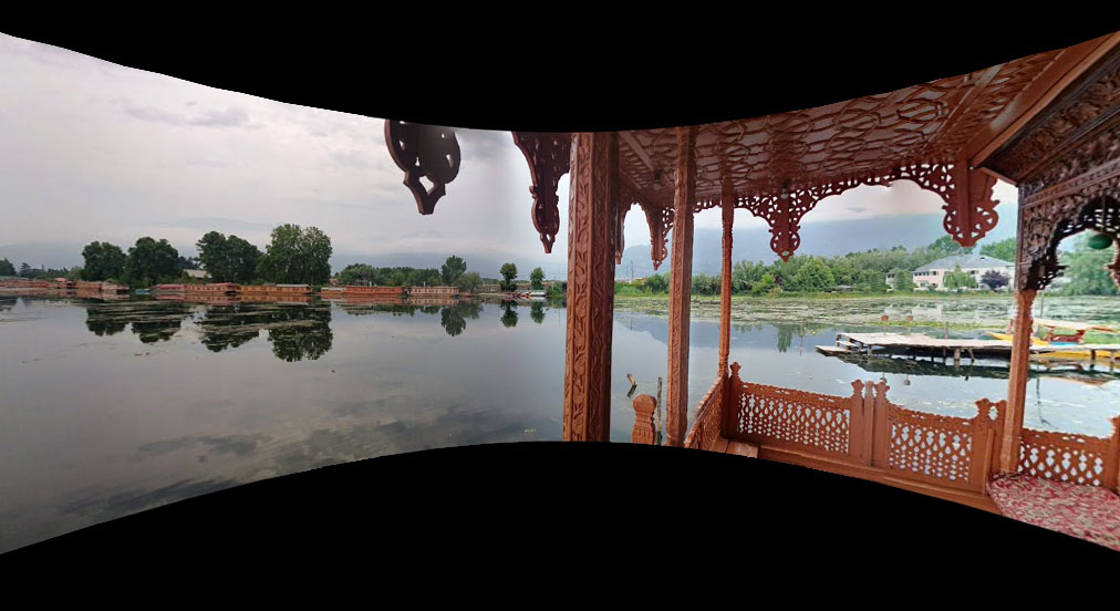 View from Shikara on Nagin Lake, Srinagar