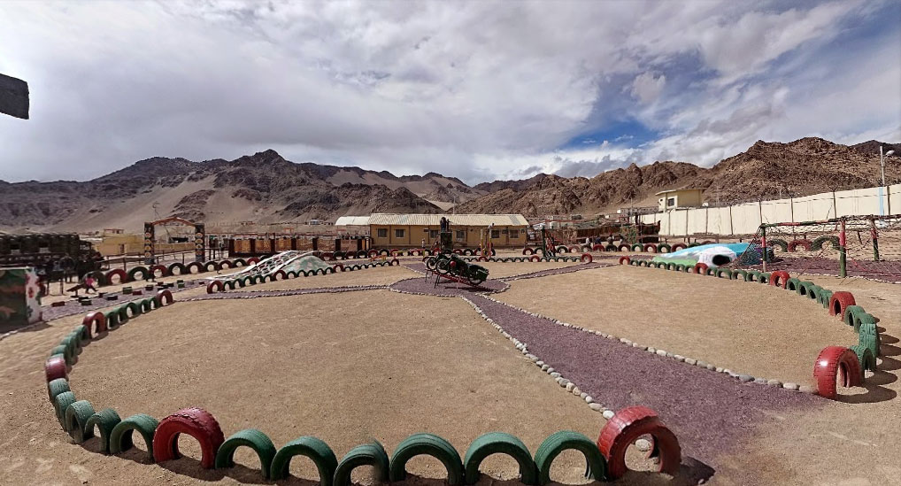 Adventure park at the Hall of Fame in Leh