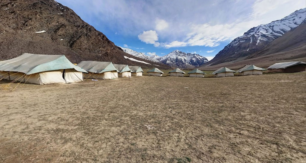 Our home for the most memorable night of our life sleeping in a tent at -10 C – Antrk Camps Sarchu